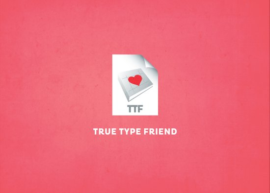True Type Friend Art Print