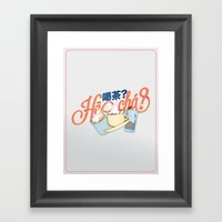 Tea Time? (Light) Framed Art Print