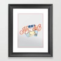 Tea Time? (Light) Framed Art Print