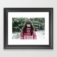 goodbye winter Framed Art Print