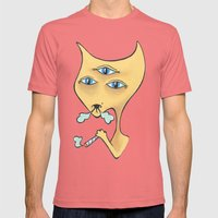 3rdHighCat Mens Fitted Tee Pomegranate SMALL