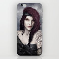 Tattoo girl iPhone & iPod Skin