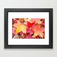 Autumn Leaves Framed Art Print