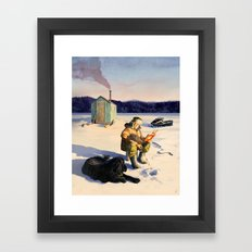 Hard Water Paperback Framed Art Print