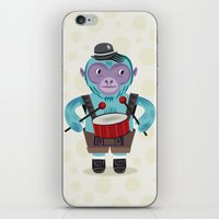The Monkey Drummer iPhone & iPod Skin