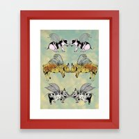 Pigs on the wing Framed Art Print