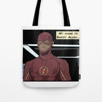 My Name Is Barry Allen Tote Bag