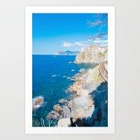 Italian Coastline Art Print