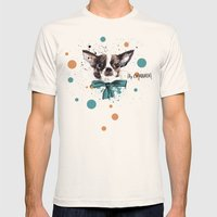 Chic Chihuahua Dog Mens Fitted Tee Natural SMALL