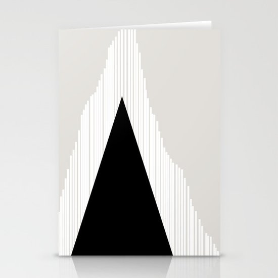 Abstract Mountain Stationery Card