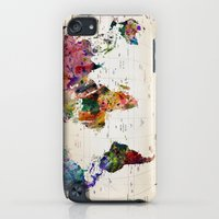 iPod Touch Cases featuring map by mark ashkenazi