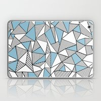 Abstraction Lines Sky Bl… Laptop & iPad Skin