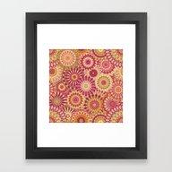 Mandala 157 (Floral) Framed Art Print