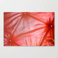 Red Buttons Canvas Print