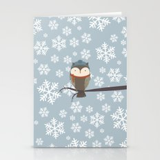 Owlbert The Winter Owl Stationery Cards