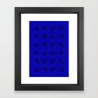 Hidden X Framed Art Print