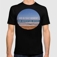 And In That Moment, Our Adventure Began Mens Fitted Tee Black SMALL