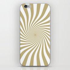 Swirl (Sand/White) iPhone & iPod Skin