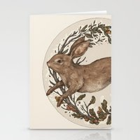 rabbit Stationery Cards featuring Rabbit by Jessica Roux