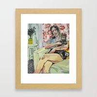 Sleep Study Framed Art Print
