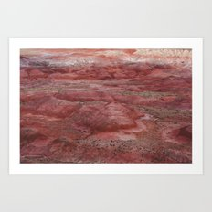 Desert Striations I Art Print