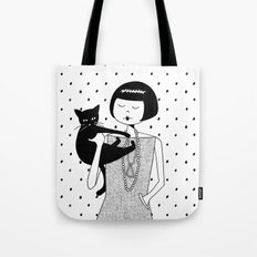 the cat's meow Tote Bag