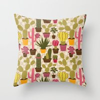 Cactus Cuties Throw Pillow