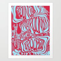 Bouncing Around The Room… Art Print