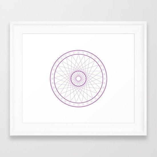 Anime Magic Circle 15 Framed Art Print