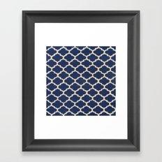 VINTAGE in NAVY Framed Art Print