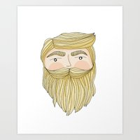 The Illusive Blonde Bear… Art Print