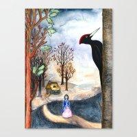Black Woodpecker  Canvas Print