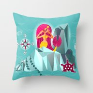 Mermaid's Call Throw Pillow