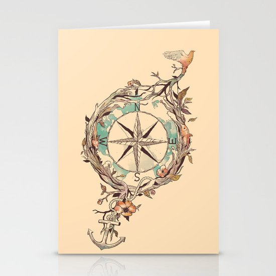 Bon Voyage Stationery Card