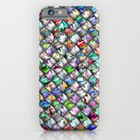 iPhone & iPod Case featuring Patchwork Rainbow by Alice Gosling