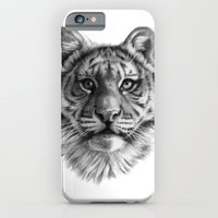 iPhone & iPod Case featuring Tiger Cub SK106 by S-Schukina