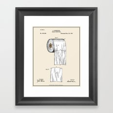 Toilet Paper Roll Patent… Framed Art Print