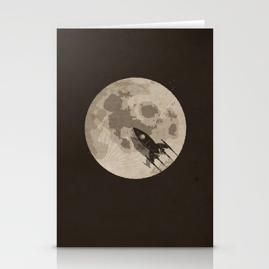 Around the Moon Stationery Card