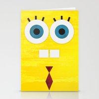 Minimal Sponge Stationery Cards