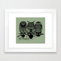 Owls of the Nile Framed Art Print