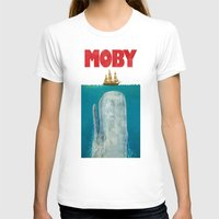 typography T-shirts featuring Moby  by Terry Fan