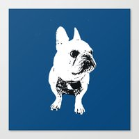 George The Cutest French… Canvas Print