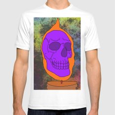 Halloween Skull Mens Fitted Tee White SMALL
