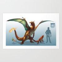 Pokemon-Charizard Art Print