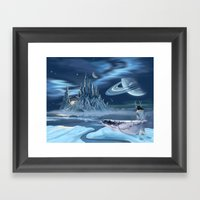 Ice Castle Framed Art Print