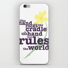 The Hand that Rocks the Cradle (Alternate Version) iPhone & iPod Skin