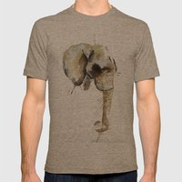 Elephant Head Mens Fitted Tee Tri-Coffee SMALL