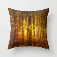 Yellow Fall Throw Pillow