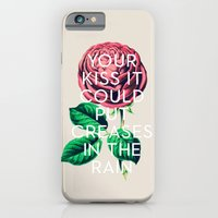 kiss iPhone & iPod Cases featuring Kiss by Heart of Hearts Designs