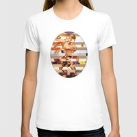 Glitch Pin-Up Redux: Amb… Womens Fitted Tee White SMALL
